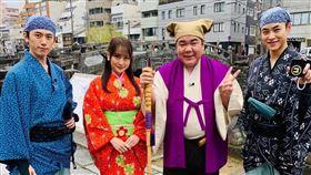 町田健一郎(右二)退燒後又回開工錄製節目。(圖/翻攝自町田健一郎推特)