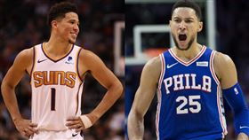 NBA/開罰?西蒙斯竟公開招募布克 NBA,費城七六人,Ben Simmons,三分球,Devin Booker 翻攝自推特