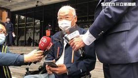 知名廣告製作人范可欽到台北地檢署出庭應訊。(圖/記者楊忠翰攝影)
