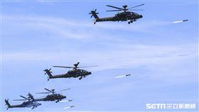漢光卅五號演習於屏東滿豐射擊場實施,圖為AH-64E阿帕契直升機 。〔記者林士傑/屏東拍攝〕