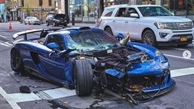 ▲Gemballa Mirage GT撞毀(圖/翻攝自ronniecnyc IG)