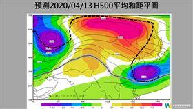 氣象專家賈新興發文,因為罕見的大阻塞高壓,預測13日(下週一)深夜至14日清晨,北台灣沿海空曠地區有機會來到6到8度。(圖/翻攝自賈新興臉書)