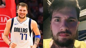 帥氣金童哪去了?隔離蓄出「大鬍子」 NBA,達拉斯獨行俠,Luka Doncic,大鬍子 翻攝自推特、Doncic IG