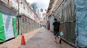 新加坡執行嚴格社交距離 牛車水商家大