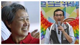 新加坡總理李顯龍夫人何晶,民進黨立委鄭運鵬。(組合圖/翻攝自臉書)