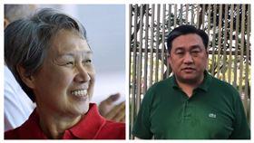 新加坡總理夫人何晶,民進黨立委王定宇。(組合圖/翻攝自臉書)