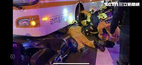 公車,騎士,車禍,救援(圖/翻攝畫面)