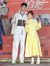 「姊妹們 追吧」演員章廣辰、劉宇珊。(記者邱榮吉/攝影)