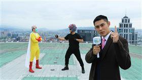 陳奕被徵招拍攝防疫宣導首演記者。(圖/新北市政府提供)