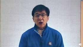 成龍「祖國加油」,中國網民嚇傻。(圖/翻攝自微博)