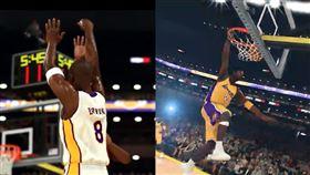 致敬!2K證實會有「柯比挑戰模式」 NBA,Kobe Bryant,Shaquille O'Neal,洛杉磯湖人,2K 翻攝自2K官方推特
