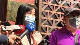 整形皇后顧婕前往台北地檢署按鈴申告。(圖/記者楊珮琪攝影)