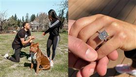 鑽戒「超閃」!拉文求婚初戀女友成功 NBA,芝加哥公牛,Zach LaVine,求婚,女友,初戀,鑽戒 翻攝自IG Zach LaVine