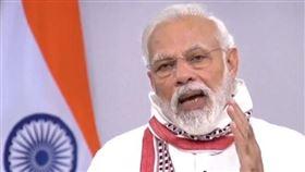 印度總理莫迪14日再宣布延長全國封鎖期到5月3日,呼籲民眾繼續待在家中。(圖取自facebook.com/narendramodi)