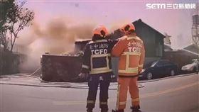 警宿舍大火,兩家人無處可歸/翻攝畫面