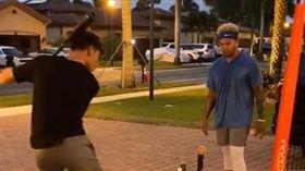 少年家門前練打 釣出「大聯盟鄰居」 MLB,紐約洋基,匹茲堡海盜,Jose Tabata 翻攝自推特