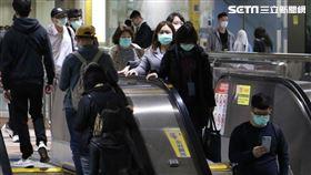 捷運、口罩(圖/記者林聖凱攝影)