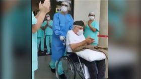 巴西少尉皮維塔(Ermando Piveta)出院(圖/翻攝自推特@Antonio00438010)