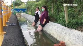公共澡堂不能泡 停車場水溝成「另類泡腳池」