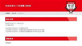 ▲日本職棒確定中止2020年球季的交流賽。(圖/翻攝自日本野球機構官網)