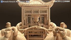 莊絢淳與黃宏翔合作出「媽祖巡福」。(圖/Knock-Knock Animation臉書授權)