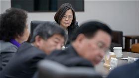 蔡政府針對武漢肺炎召開國安高層會議(蔡英文) 圖/總統府提供