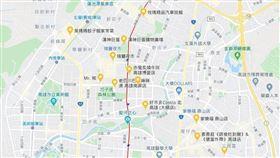 高雄,敦睦艦,確診,熱點,地圖,左營區/google map