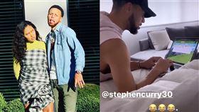 NBA/不會打字 柯瑞慘遭老婆嘲笑 NBA,金州勇士,Stephen Curry,Ayesha Curry,電腦,打字 翻攝自Ayesha Curry IG