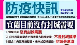 宜蘭,林姿妙,封城,武漢肺炎,186 圖/林姿妙臉書