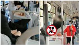 男子穿大腿襪公車內露下體 遭女乘客舉報跳車逃跑(圖/翻攝自微博)