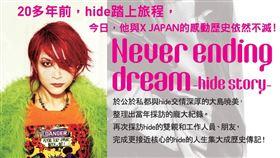 台灣角川,hide,紀念傳記,Never ending dream -hide story-,X JAPAN,吉他手 圖/台灣角川提供