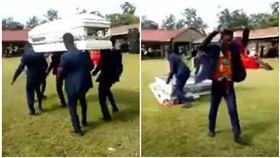迦納,送葬,棺材,遺體,跳舞(圖/翻攝自YouTube)