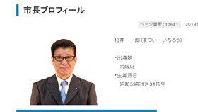 大阪市長松井一郎(圖/翻攝自大阪市官網)