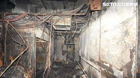 ▲北市林森錢櫃大火現場滿目瘡痍。(圖/翻攝畫面)