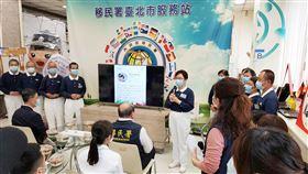 慈濟志工代表楊茹云師姊表示大家一起透過吃素救地球。(圖/中華民國內政部移民署提供)