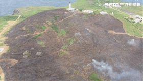 彭佳嶼,火燒山, 基隆消防局提供