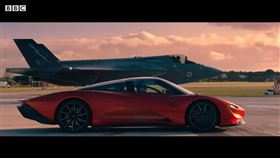 ▲McLaren Speedtail VS F-35(圖/翻攝自Top Gear Youtube)
