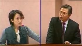2012年蕭美琴質詢金溥聰。(翻攝立法院質詢系統)