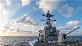 中國囂張肖想佔南海…美國第七艦隊曝光貝瑞號驅逐艦巡防照(圖/翻攝U.S. 7th Fleet臉書)