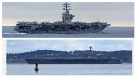 王定宇:美軍航母尼米茲號可能部署太平洋(組合圖/翻攝王定宇臉書)