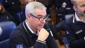 義大利民防總署長波瑞里(圖)日前在全國直播的疫情記者會中,公開感謝台灣對義大利捐贈防疫物資。(圖取自推特)