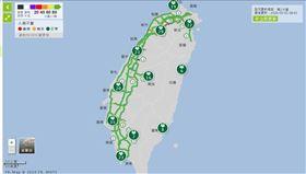 連假罕見!即時路網一路「綠燈」 台灣人真的乖乖在家(圖/翻攝自1968即時路況)