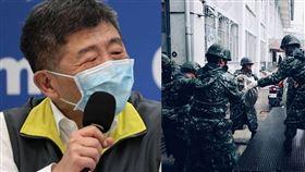 陳時中、國軍/資料照、國防部發言人臉書