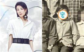 網友在微博曬出王菲12歲時的童年照