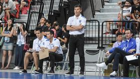瓊斯盃中華藍隊vs南韓隊,中華藍總教練周俊三 圖/記者林敬旻攝影