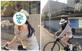 許瑋甯騎單車秀長腿。(圖/翻攝自IG)