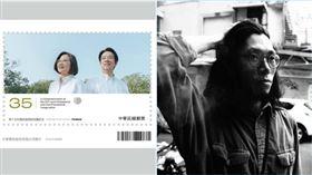 ▲莊仲凱操刀就職郵票主視覺。(圖/文總會提供)