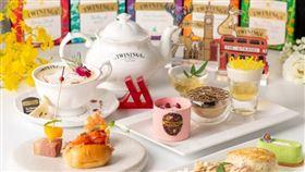 ▲台北萬豪Lobby Lounge高級訂製唐寧鉑金系列下午茶(圖/台北萬豪酒店提供)