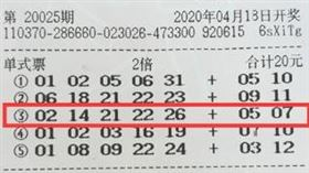 ▲一等獎彩券。(圖/取自中國體彩官網)