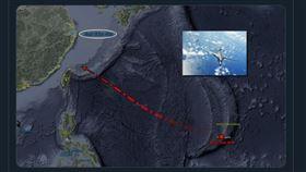 5月3度現蹤!美軍B-1B轟炸機現台灣東北方海域(圖/翻攝推特)